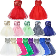 Baby Pageant Flower Girl Dress Kid Birthday Wedding Bridesmaid Gown Formal Dress