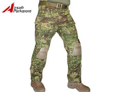 Tactical Military Camo BDU Pants Army Combat Trousers with Knee Pads Greenzone
