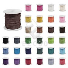 80M/Roll Waxed Cotton Cord Jewelry Bead Making Thread Leathercraft 0.8/1/1.5/2mm