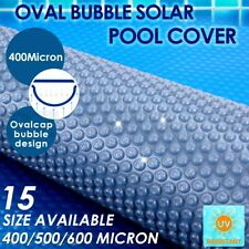 400/500 Micron Outdoor Solar Swimming Pool Cover Oval Bubble Blanket