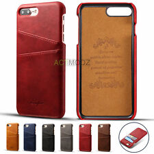 Luxury PU Leather Wallet Card Holder Back Case Cover For Apple iPhone 7 / 7 Plus