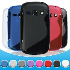 Silicone Case Samsung Galaxy Fame - S-Style  + protective foils