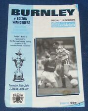 BURNLEY HOME PROGRAMMES 1993-1994
