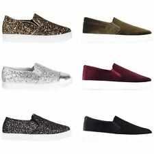 Womens Glitter Retro Creeper Trainers Flatforms Ladies Sneakers Lace Up Shoes UK