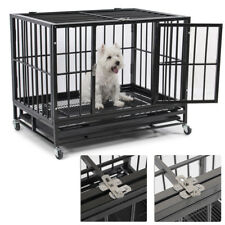 """New 36"""" Heavy Duty Dog Pet PlayPen Cat Bird Crate Cage Tray Kennel with Wheels"""