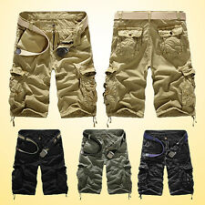 Mens Military Army Combat Trousers Tactical Work Camo Pants Cargo Shorts Sanwood