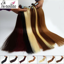 """16""""-22"""" Remy human hair tape in hair extensions skin weft #1#2#4#613 1-3DaysShip"""
