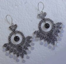 Gemstone Solid Silver, 925  Bali Handcrafted Earring 29077