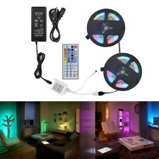 10M 2835 RGB Flexible Strip Light+ 44key Remote Controller+ 12V 5A Power Adapter