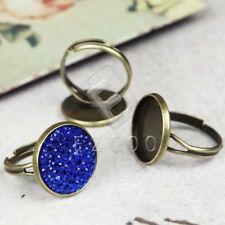 5pcs Vintage Ring Mountings Antique Brass Round 21x18/20x20/20x17mm Wholesale
