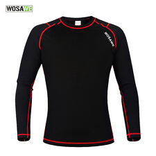 Men Winter Compression Fleece Thermal Base Layer Underwear Shirts Base Layer Tee