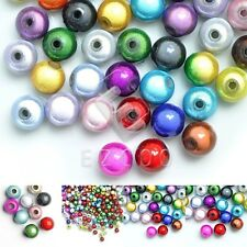 10/20/40/80/120pcs Acrylic Round Miracle Beads Jewelry 4/6/8/10/12mm Multi-Color