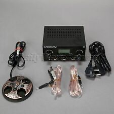 Tattoo Power Supply+Machine Foot Pedal Switch+2 Clip Cords+1 Power Cord Digital
