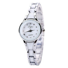 Women's Quartz Wrist Watch Crystal Stainless Steel Analog Bracelet Bangle Silver