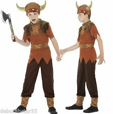 Boys Viking Fancy Dress Costume Saxon Warrior World Book Day Outfit 4-12+ years