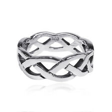 Waves of Celtic Knots Eternity Band Sterling Silver Ring (Thailand)