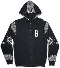 Black Scale Couvre Jacket Hooded Mens Bandana Blvck Scvle