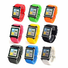 Silicone Bracelet Watch Band Wrist Strap For iPod Nano 6 6th Generation Case New