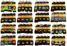 12 Pairs of Mens Designer Socks, Cotton Rich Designs by SockStack, Size 6-11