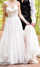 Blush Princess Wedding Dress Lace Strapless Bridal Gown Custom Size 2 4 6 8 10 +