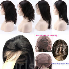 variety Length of indian remy human hair full lace wig Lace Front Wig Baby Hair
