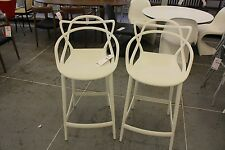 Masters Counter Stool White SET OF 2 Philippe Starck DWR Design Within Reach