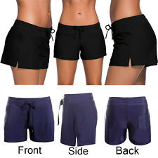 Women Shorts Plain Bikini Swim Swimwear Lady Boy Style Short Brief Bottoms UK