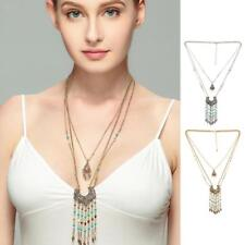 Retro Bohemia Style Ethnic Multi Beads Tassel Party Pendant Long Necklace