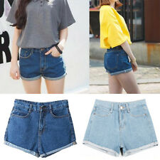 Vintage Womens Girls Casual Denim High Waisted Shorts Jeans Hot Pants