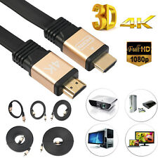 Lot 3-32FT Ultra High Speed Flat HDMI Cable HD V2.0 for HDTV LCD PS4 3D 4K 1080P