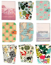 Kids Adult Passport Cover Wallet Card Holder Travel Holiday Gift Set