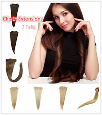 18 '' 20 '' 24 '' Clip In 7pcs Set 100%  Remy human hair extension 75g/80g/105g