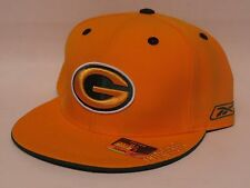 Reebok GREEN BAY PACKERS Fitted Flat Bill NFL Cap/Hat - Yellow - Team Preferred