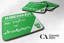 Hibs, Hibernian, Pride Of Edinburgh Coasters. Brand New. Pack of 4 or 6.