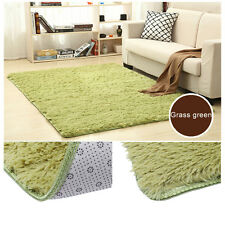 Large Size Fluffy Rugs Anti-Skid Shaggy Area Rug Dining Room Carpet Floor Mat &&