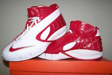 Women's size 13 NEW Nike WMNS Zoom Huarache White Basketball Shoes with Red Trim