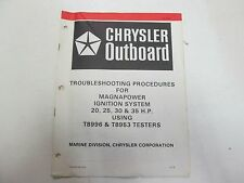 1979 Chrysler Outboard Maganapower Ignition 20 25 30 35 Troubleshooting Manual