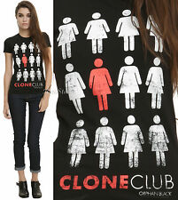 BBC Orphan Black Clone Club fitted tee T-shirt Hot Topic Exclusive JRS. XS-XL