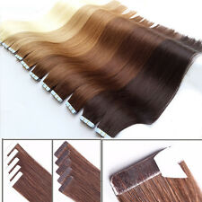 Tape in Hair Extensions Brazilian Virgin Hair Extensions Adhesive 20/40Pcs/Pack