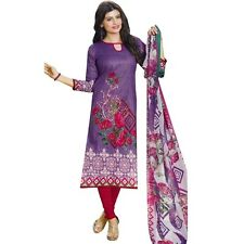 Ready To Wear Beautiful Printed Cotton Salwar Kameez Suit Indian-Spicy-1010