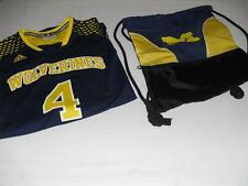 New Men's Adidas Michigan Wolverines Jersey and Mesh Backpack - Size XL - NWT