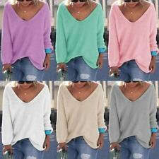 Fashion Women Winter Wool Jumper Pullover Tops Cashmere Knitted Sweaters Plain