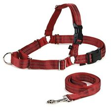 Premier EASY WALK REFLECTIVE DOG HARNESS/LEASH COMBO Red Black 5 Size Choices