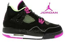 Nike Air Jordan 4 Retro GS Black Fuschia Pink Womens Girls Trainers 705344 027