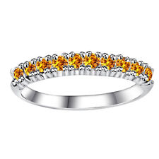 Orchid Jewelry 925 Sterling Silver 0.40 Carat Citrine Semi Eternity Ring