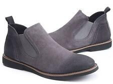 New Mens casual high top shoes suede leather Chelsea Boot ankle boots oxford @