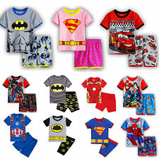 Boys Kids Marvel Pyjamas Short Sleeve T-Shirt Shorts Pants Set Summer Outfits