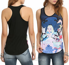 NEW disney ALICE IN WONDERLAND TEA PARTY SUBLIMATION RACER BACK TANK TOP S-XL