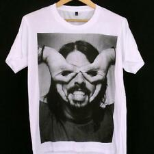 DAVE GROHL T-SHIRT, Foo Fighters Grunge ROCK, White Cotton S M L Unisex, Nirvana