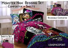 Monster High Doll Twin/Full COMFORTER+SHEETS SET Bed in a Bag Single/Double Room